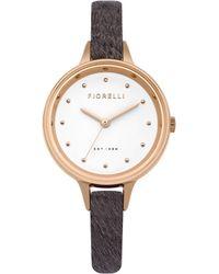 Fiorelli - Ladies Pink Croc Leather Strap Watch - Lyst