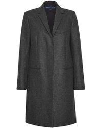 French Connection - Platform Felt Wool Coat - Lyst