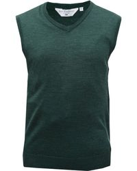 Double Two - Men's V Neck Sleeveless Sweater - Lyst