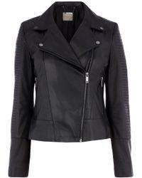 Oasis | Hollie Leather Biker Jacket | Lyst