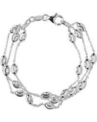 Links of London - Beaded Chain 3 Row Bracelet - Lyst