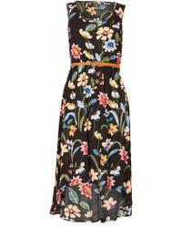 Izabel London - Dipped Hem Print Dress - Lyst