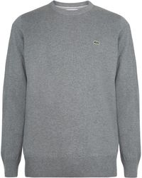 Lacoste - Men's Crew Neck Caviar Piqué Accent Cotton Jersey Sweat - Lyst