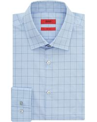 HUGO - Men's Jenno Slim Windowpane Check Shirt - Lyst