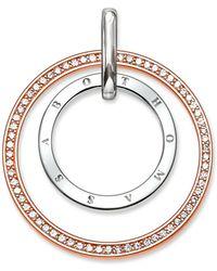 Thomas Sabo - Glam & Soul Two-tone Circles Pendant - Lyst