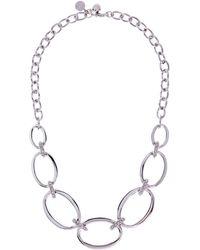 Karen Millen - Silver Oversized Chain Necklace - Lyst