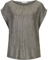 Betty & Co. | Metallic Pleated Top | Lyst