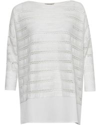 Great Plains | Tabitha Jersey Perforated Detail Top | Lyst