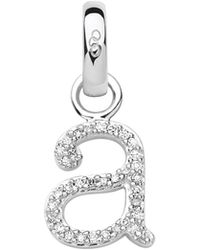 Links of London - Sterling Silver & Diamond A Alphabet Charm - Lyst