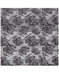 Kenneth Cole - Katori Floral Design Silk Pocket Square - Lyst
