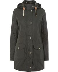 Barbour - Selsey Long Hooded Wax Jacket - Lyst