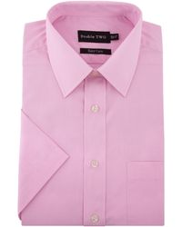 Double Two - Plain Classic Fit Short Sleeve Classic Collar For - Lyst