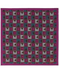 Richard James - Sundial Pocket Square - Lyst