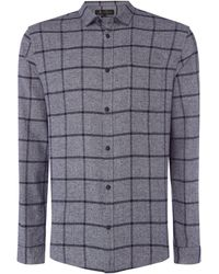 Label Lab - Men's Freeman Window Pane Check Shirt - Lyst