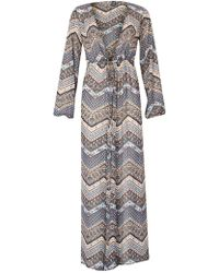 Izabel London - Aztec Boho Maxi Dress - Lyst