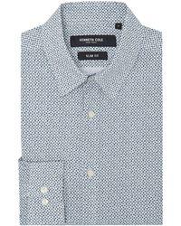 Kenneth Cole - Men's Yards Slim Fit Geometric Print Shirt - Lyst