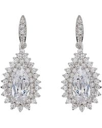 Mikey - Oval Stone Marquise Drop Earring - Lyst