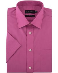 Double Two - King Size Non Iron Poplin Short-sleeve Shirt - Lyst