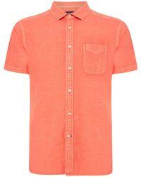 Howick - Men's Hinston Short Sleeve Linen Cotton Shirt - Lyst