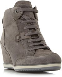 Geox | Illusion A Lace Up Wedge Trainers | Lyst