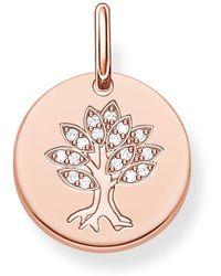Thomas Sabo - Love Coin Engravable Tree Of Life Pendant - Lyst