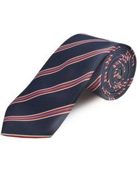 Double Two Extra Long Polyester Tie - Red