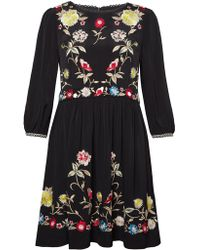 French Connection - Saya Crepe Flared Dress - Lyst