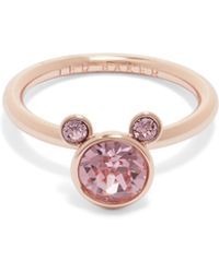 Ted Baker - Adanno Crystal Detail Bear Ring - Lyst
