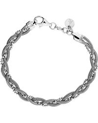 Azendi - Silver Plaited Chain Bracelet - Lyst