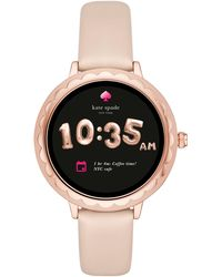 Kate Spade - Pink Nude Scallop Touchscreen Smartwatch - Lyst