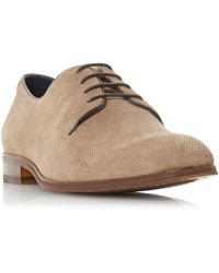 Dune - Pradamel Embossed Lace Up Gibson Shoes - Lyst