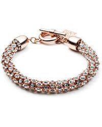 Anne Klein - Rose Goldtone And Crystal Bracelet - Lyst