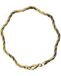 Azendi - 3 Strand Gold Vermeil Bracelet - Lyst