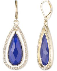 Anne Klein - Cubic Zarconia Eurowire Earrings - Lyst