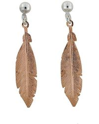 Azendi | Sterling Silver/18ct Rose Gold Vermeil Earrings | Lyst