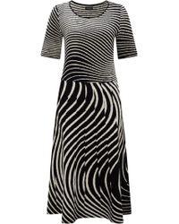 James Lakeland - Monochrome Knit Dress - Lyst