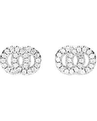 Azendi - Interlocking Circles Cz Studs - Lyst