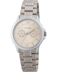Pilgrim - Elegant And Stylish Silver-plated Watch - Lyst
