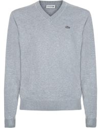 Lacoste   V Neck Sweater   Lyst