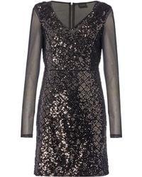 Vila | Viclarice Mesh Sleeve Bodycon Dress | Lyst