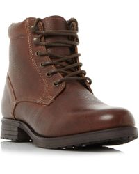Howick | Copper Lace Up Worker Boots | Lyst