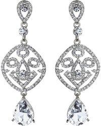Mikey | Filgree Crystal Diamond Drop Earring | Lyst