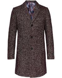 Ted Baker - Men's Rich Boucle Herringbone Overcoat - Lyst
