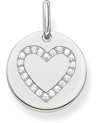 Thomas Sabo - Love Coin Engravable Heart Pendant - Lyst