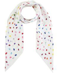 Lulu Guinness - Confetti Print Silk Twill Scarf - Lyst