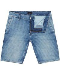 Pepe Jeans - Men's James Pinstripe Denim 14 Length Shorts - Lyst