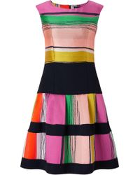 James Lakeland - Stripe Fit And Flare Dress - Lyst