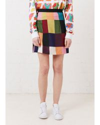 House of Holland - Patchwork A Line Skirt - Lyst