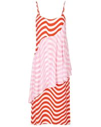 House of Holland - Red And Pink Wave Slip Dress - Lyst