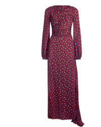 House of Holland Polka Dot Rouched Maxi Dress